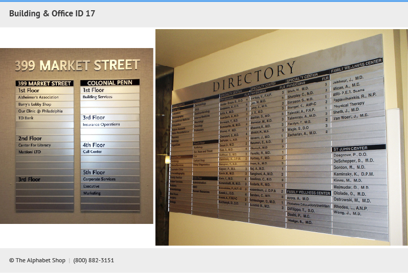 Office Building Signs Directories